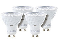 Luminea COB-LED-Spotlight, GU10, 7 W, 500 lm, warmweiß, 4er-Set
