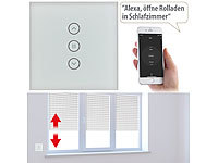 Luminea Home Control Rollladen-Touch-Unterputz-Steuerung mit WLAN, App und Sprachsteuerung; WLAN-Steckdosen mit Stromkosten-Messfunktion WLAN-Steckdosen mit Stromkosten-Messfunktion WLAN-Steckdosen mit Stromkosten-Messfunktion WLAN-Steckdosen mit Stromkosten-Messfunktion