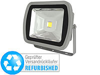 Luminea Wetterfester LED-Fluter, Metall, 80 W, warmweiß (Versandrückläufer); LED-Fluter mit Bewegungsmelder (tageslichtweiß), Wetterfester LED-Fluter (tageslichtweiß)