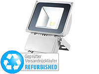 Luminea Wetterfester LED-Fluter, 70 W, IP65, warmweiß (Versandrückläufer); LED-Fluter mit Bewegungsmelder (tageslichtweiß), Wetterfester LED-Fluter (tageslichtweiß)