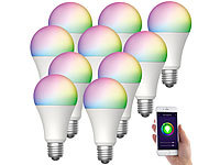 Luminea Home Control 10er-Set WLAN-LED-Lampen für Alexa & Google Assistant, E27, RGB, CCT; WLAN-LED-Lampen E27 weiß, WLAN-Steckdosen mit Stromkosten-Messfunktion WLAN-LED-Lampen E27 weiß, WLAN-Steckdosen mit Stromkosten-Messfunktion WLAN-LED-Lampen E27 weiß, WLAN-Steckdosen mit Stromkosten-Messfunktion WLAN-LED-Lampen E27 weiß, WLAN-Steckdosen mit Stromkosten-Messfunktion