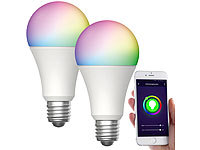 Luminea Home Control 2er-Set WLAN-LED-Lampen, für Amazon Alexa/GA, E27, RGB, CCT, 12 W; WLAN-LED-Lampen E27 weiß, WLAN-Steckdosen mit Stromkosten-Messfunktion WLAN-LED-Lampen E27 weiß, WLAN-Steckdosen mit Stromkosten-Messfunktion WLAN-LED-Lampen E27 weiß, WLAN-Steckdosen mit Stromkosten-Messfunktion WLAN-LED-Lampen E27 weiß, WLAN-Steckdosen mit Stromkosten-Messfunktion